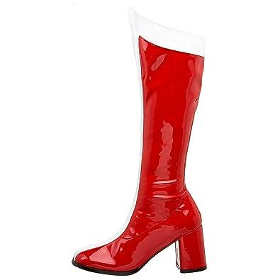 Pleaser Gogo 305, Botines para Mujer, Rojo (Red Wht Str Pat), 40.5 EU