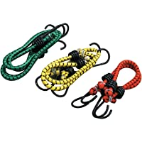 MK Star High Strength Elastic Bungee/Shock Cord Cables, Luggage Tying Rope with Hooks, Set of 2