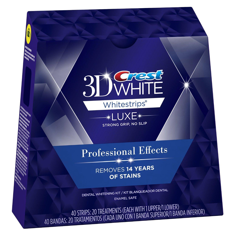 Crest 3D AllWhite Luxe Whitestrips Professional Effects Teeth Whitening Kit Jumbo Pkg of 40 Treatments