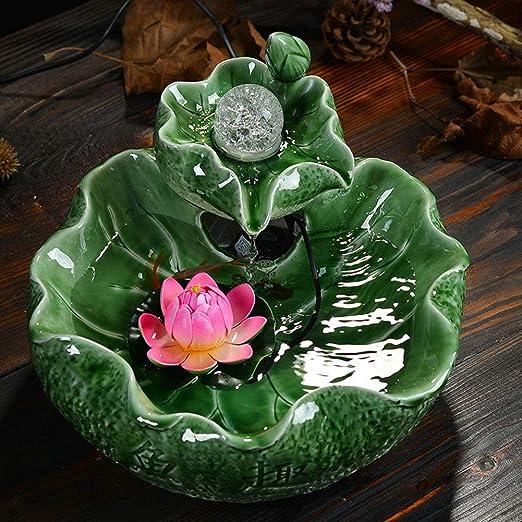 Qys Decoración de Mesa de cerámica de Agua Corriente Regalo de ...