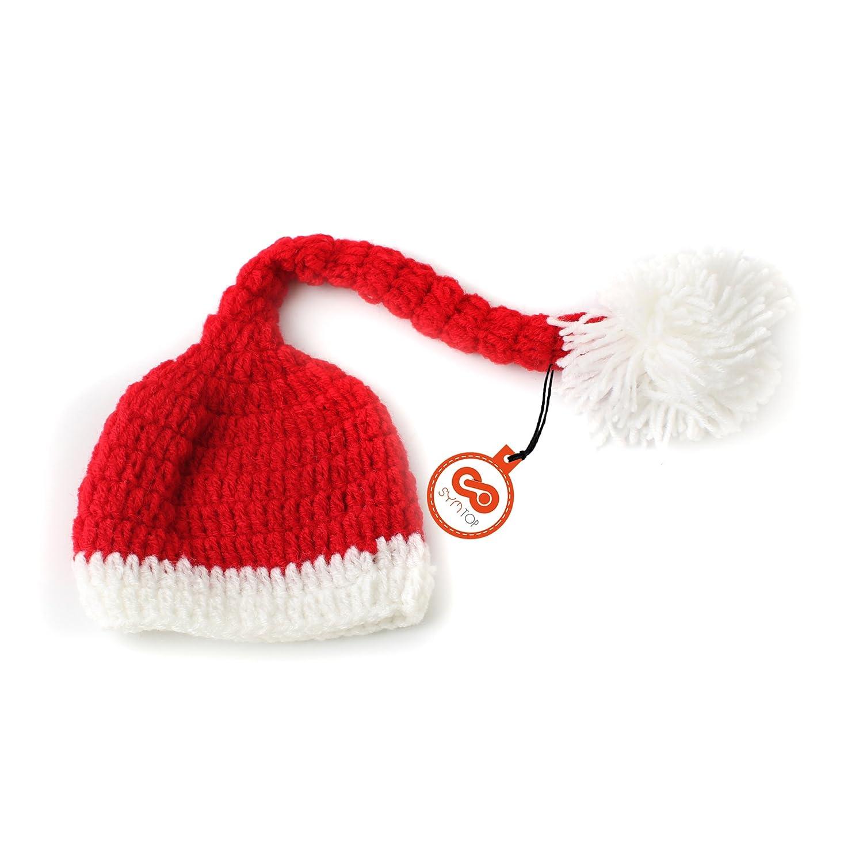 Gorro de Navidad de punto en ganchillo para sesiones fotográficas ...