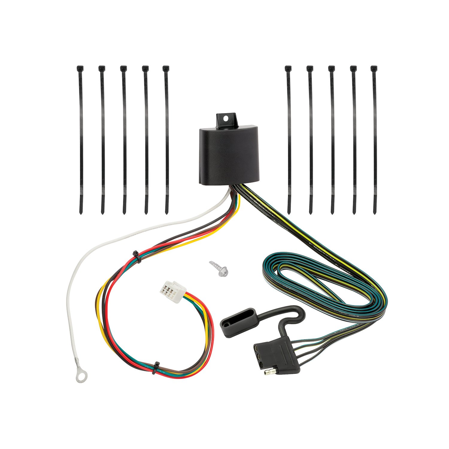 Tekonsha 118278 4-Flat Tow Harness Wiring Package with Circuit Protected ModuLite HD Module, 1 Pack