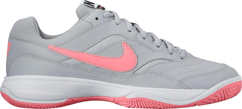 NIKE Women's Court Lite Tennis Shoe B01FSEAO0I 6.5 B(M) US|Grey/Pink