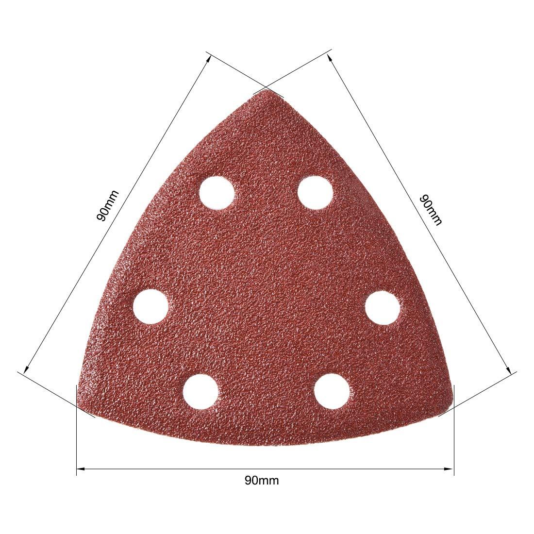 uxcell Mouse Detail Sander Sandpaper,Sanding Paper,Sander Pads Sheet Assorted,6 Hole 150 Grits 5pcs