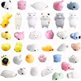 Amaza 36Pcs Squishy Kawaii Petit Animaux Anti Stress Reliever Jouet (Multicolore)