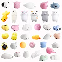 Amaza 36Pcs Squishy Kawaii Antistress Squishy Slow Rising Squishy Giocattolo Animali 3d Silicone Morbidosi Piccoli Toy