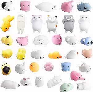 Monqi 36Pcs Squishys Kawaii Juguetes Pegajosos Oso Panda Gato de Silicona Animales Squishies (Multicolor): Amazon.es: Juguetes y juegos