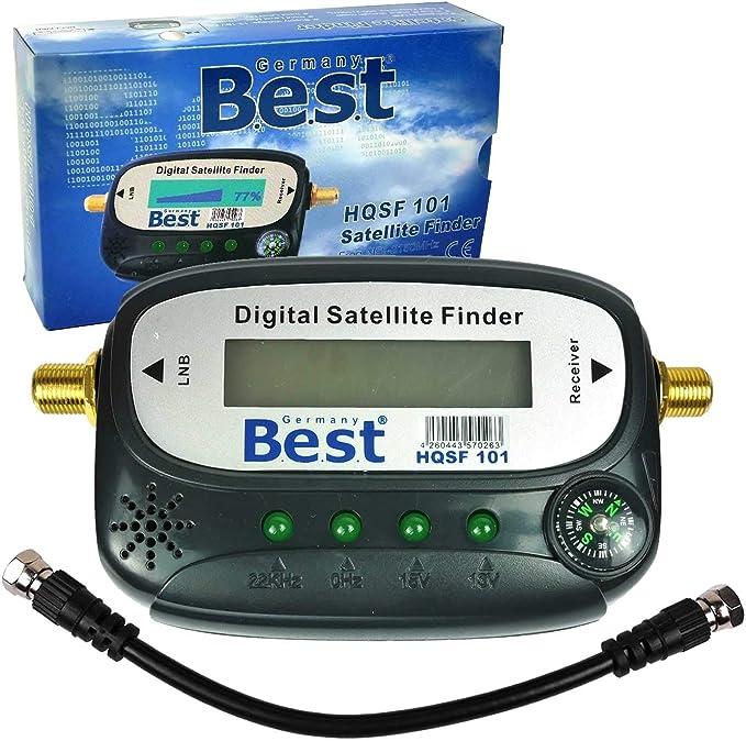 BEST Elektronik SAT Finder HQSF 101 Satfinder Medidor de antena | Pantalla LCD, brújula e instrucciones en alemán (idioma español no garantizado). No ...