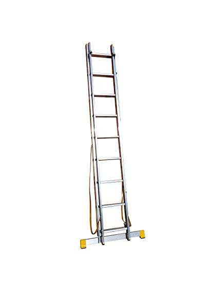 512m 2 Section Extension Ladder Ladders With Integral Stabiliser Amazoncouk DIY Tools