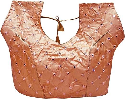 PEEGLI Blusa Étnica De Mujer Durazno Papel Seda Fiesta Desgaste Boda Choli -XX-Large: Amazon.es: Ropa y accesorios