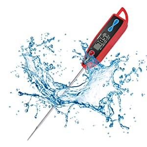 Yacumama Digital Water Thermometer for Liquid, Candle, Instant Read with Waterproof for Food, Meat, Milk, Long Probe