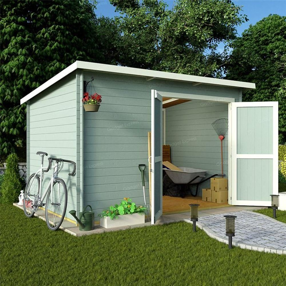 10 x 8 sin ventana cobertizo taller resistente Log Cabin gama - 19 mm Entrelazados lengua y Groove: Amazon.es: Jardín