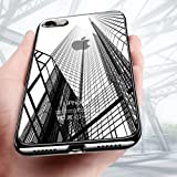 iPhone 8 Hülle, iPhone 7 Hülle, KKtick Schutzhülle Apple iPhone 8 Kratzfeste Plating TPU Bumper Case [Ultra Slim] Silikonhülle Tasche iPhone 7 Rutschfeste Handyhülle für iPhone 8 Case Cover- Schwarz