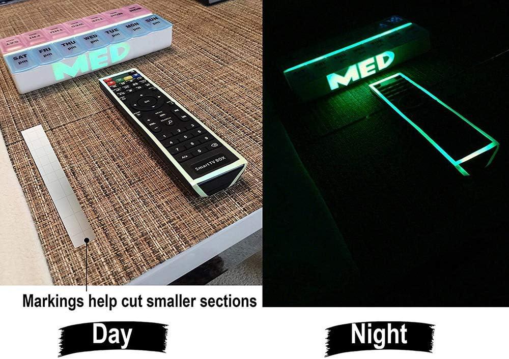 indicatore di sicurezza 3 x 2 cm segnale di uscita verde fosforescente BolLAER Nastro luminoso che si illumina al buio 2 pezzi rimovibile con impermeabile
