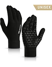 TRENDOUX Thermal Winter Touch Screen Gloves Men Women - Anti-slip Grip - Elastic Cuff - Warm Lining - Stretchy Material