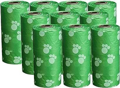 150 Pieces Pet Dog Waste Bag Poop Bags 10 Rolls