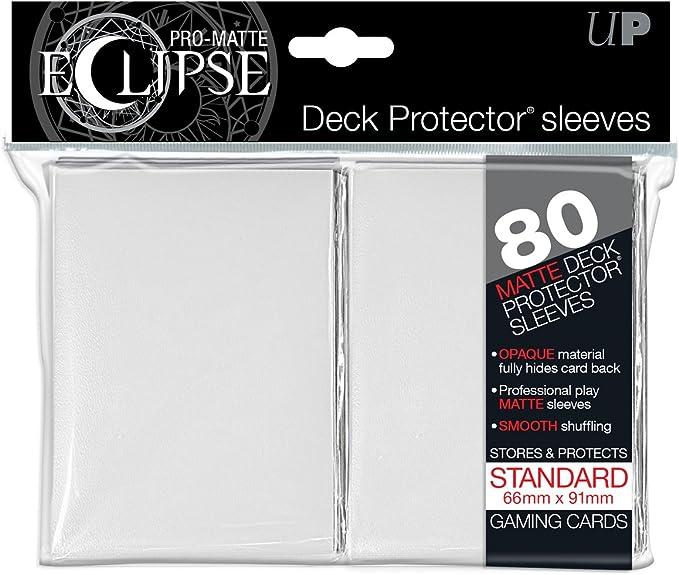 Ultra PRO 80 Pro Matte Eclipse Standard Deck Protector Sleeves Light Blue 85252