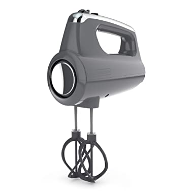 BLACK+DECKER MX600G Helix Performance Premium 5-Speed Hand Mixer 5 Attachments + Case Grey