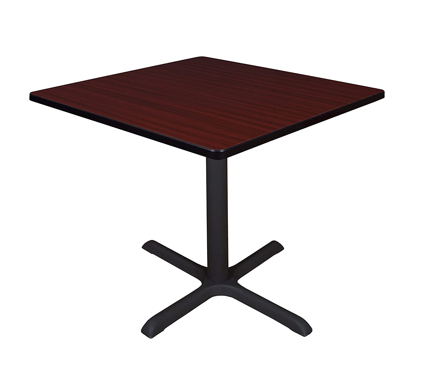 "Amazon Cain 36"" Square Breakroom Table Cherry Kitchen & Dining"