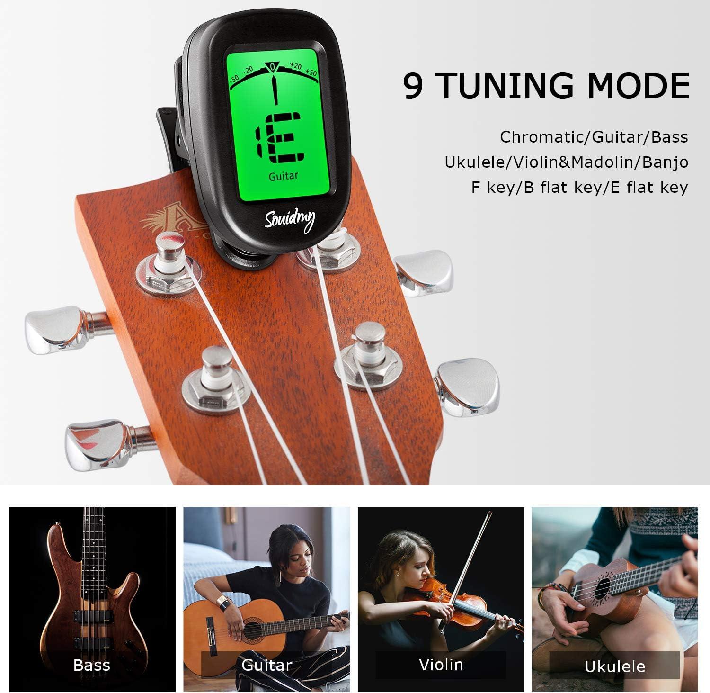 Souidmy Afinador de Guitarra, con Modos de Afinación para Guitarra ...