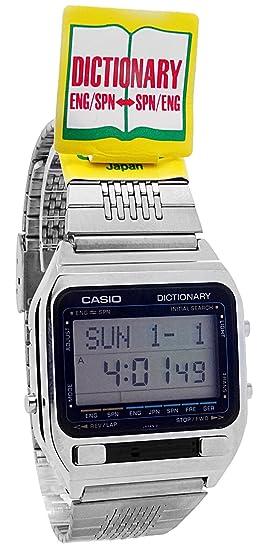 Casio TE-2500 - Reloj de pulsera hombre, acero inoxidable, color plateado: Amazon.es: Relojes