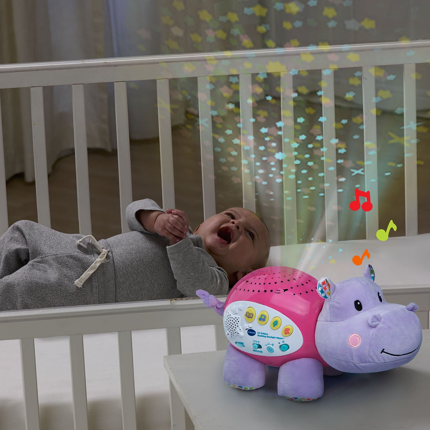 VTech Baby Lil' Critters Soothing Starlight Hippo, Pink (Amazon Exclusive) by VTech (Image #5)