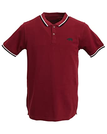 Polos Harrington rouge bordeaux homme SIoT3ituF