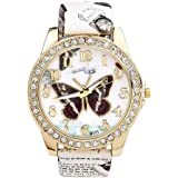 JSDDE Orologio da polso,Vintage farfalla postale Stile orologio al quarzo da Unisex