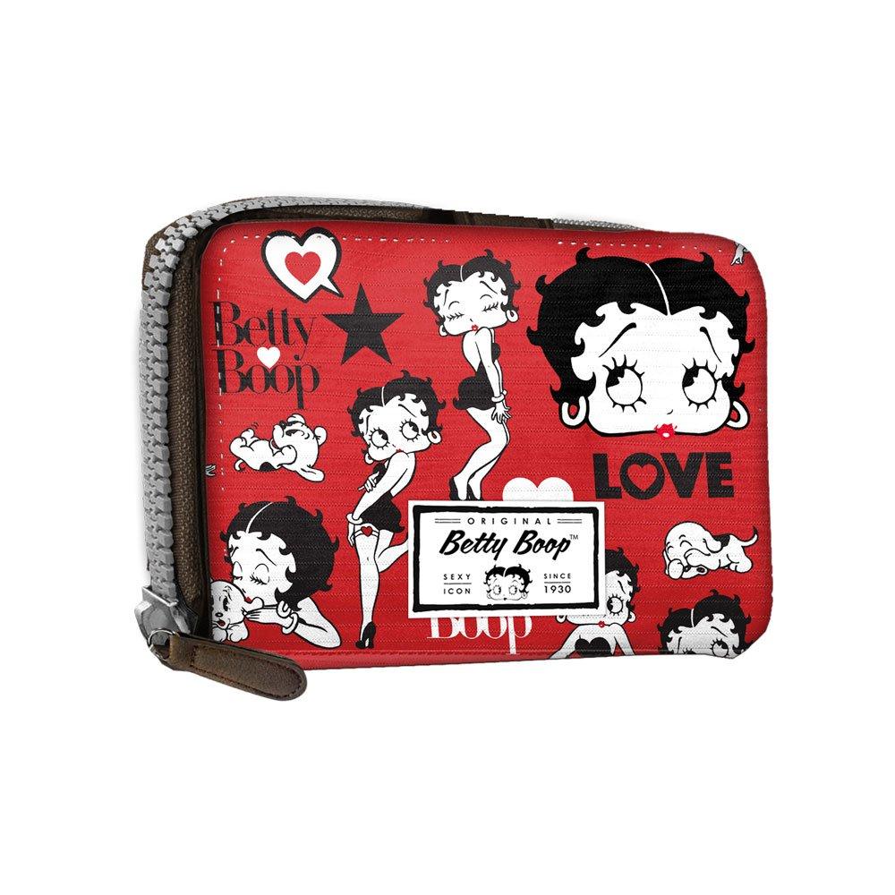 Betty Boop Rouge - -Mini Cartera De Señoras - Cerrado con Cremallera y botón metálico - Color Rojo: Amazon.es: Equipaje