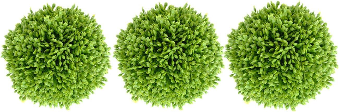 Ciroases 3.5 Inch Decorative Balls Artificial Green Plant Decorative Balls, Bowl Filler Greenery Balls,Set of 3