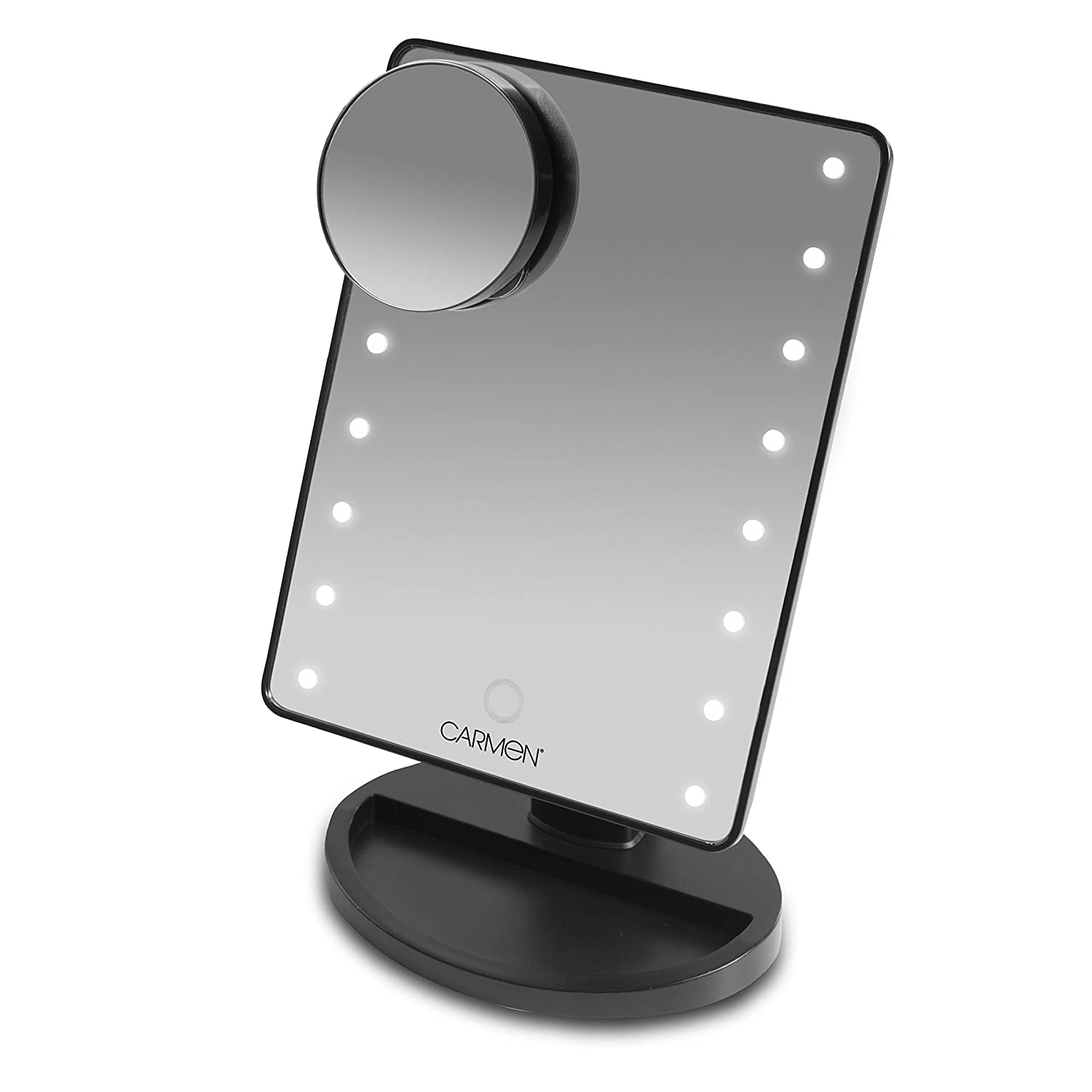Carmen C85020 LED Illuminated Vanity Mirror with Smart Touch Screen - Black RKW