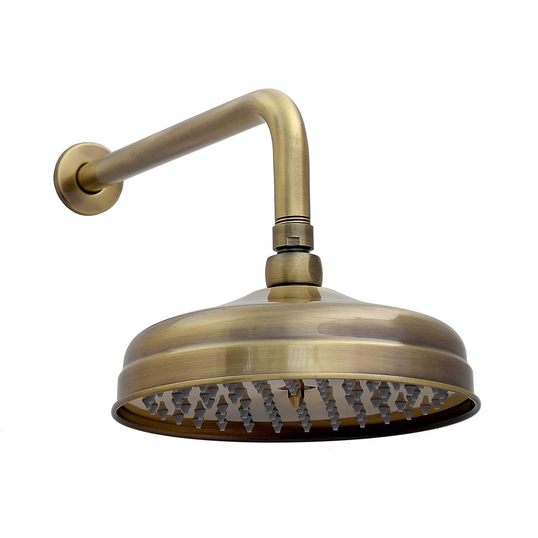 ENKI Soffione fisso per doccia braccio ampio rotondo ottone/bronzo anticato C116AB-C117AB