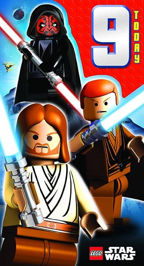 Lego Star Wars - Tarjeta de felicitación para 9º cumpleaños ...