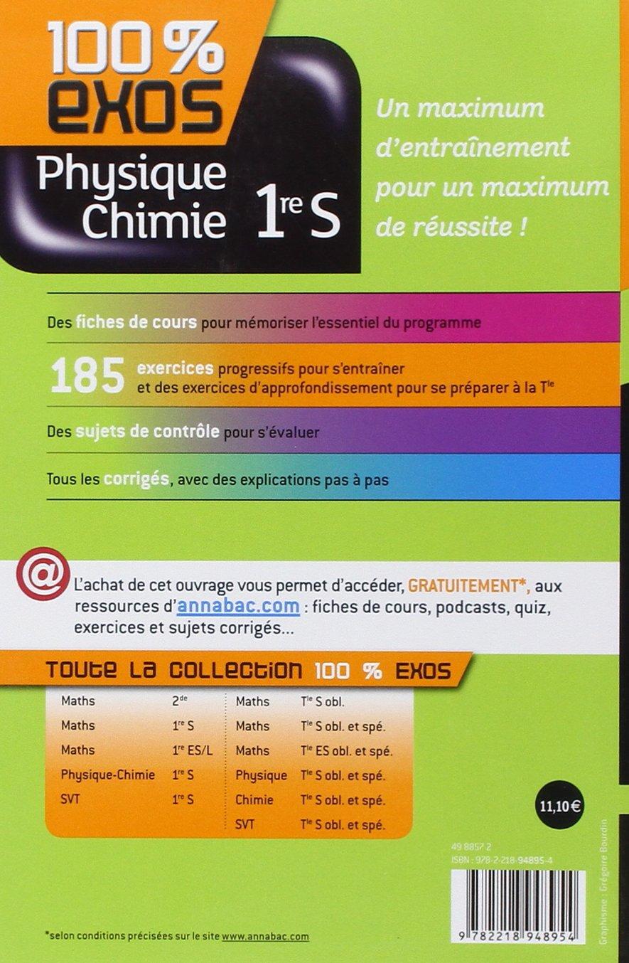 Physique Chimie 1re S Exercices Resolus Physique Et Chimie Premiere S Amazon Fr Madani Sonia Alhalel Thierry Benguigui Nathalie Garrido Gregoire Livres
