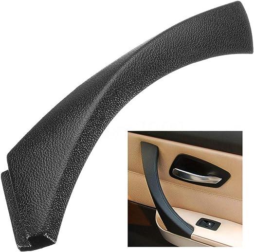 XZANTE Maniglia della pulsantiera interna della portiera della cabina destra della copertura del trim della cabina per BMW Serie E90 3 serie nero