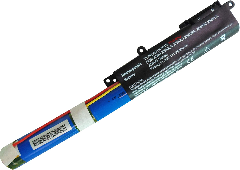 11,25 V 2600 mAh A31N1519 reemplazo de la bater/ía del port/átil para ASUS X540 X540LA X540LJ X540SA X540SC X540YA X540S F540 F540L F540LA F540S F540SA F540Y R540 R540L R540LA R540S R540SA R540Y