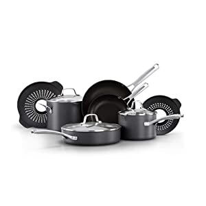 Calphalon 2094680 Classic Nonstick 10 Piece Cookware Set with No Boil-Over Inserts