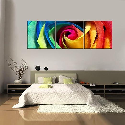 YESURPRISE Impresión En Lienzo Nuevo Para Pared Decoración Para Hogar Sala Cocina Dormitorio Rosa Flor Colorida (sin marco o bastidor)