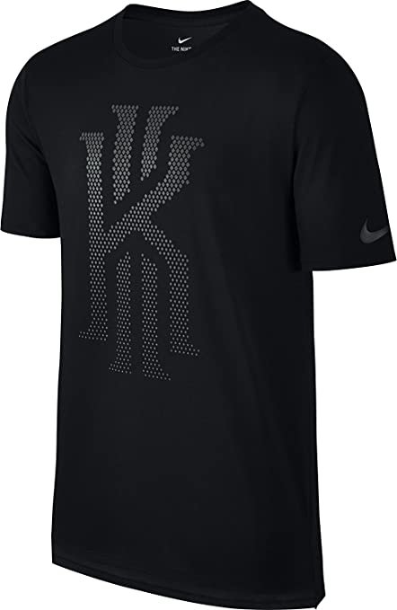 Nike Mens DRI-FIT Kyrie Irving Diamond Polka Dot Athletic Cut T-Shirt Black