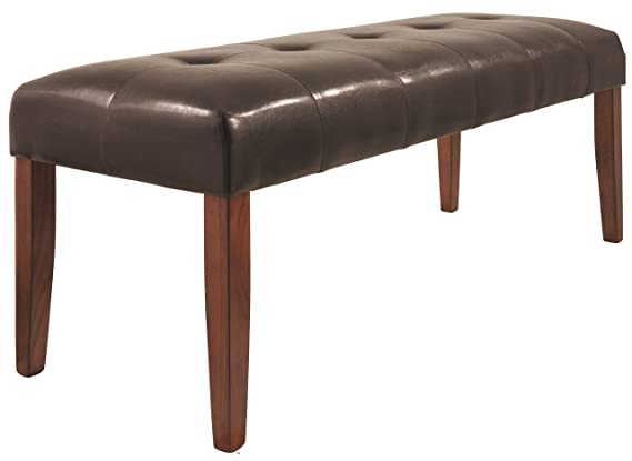 img buy Ashley Furniture Signature Design - Lacey Large Dining Room Bench - Upholstered - Contemporary - Medium Brown