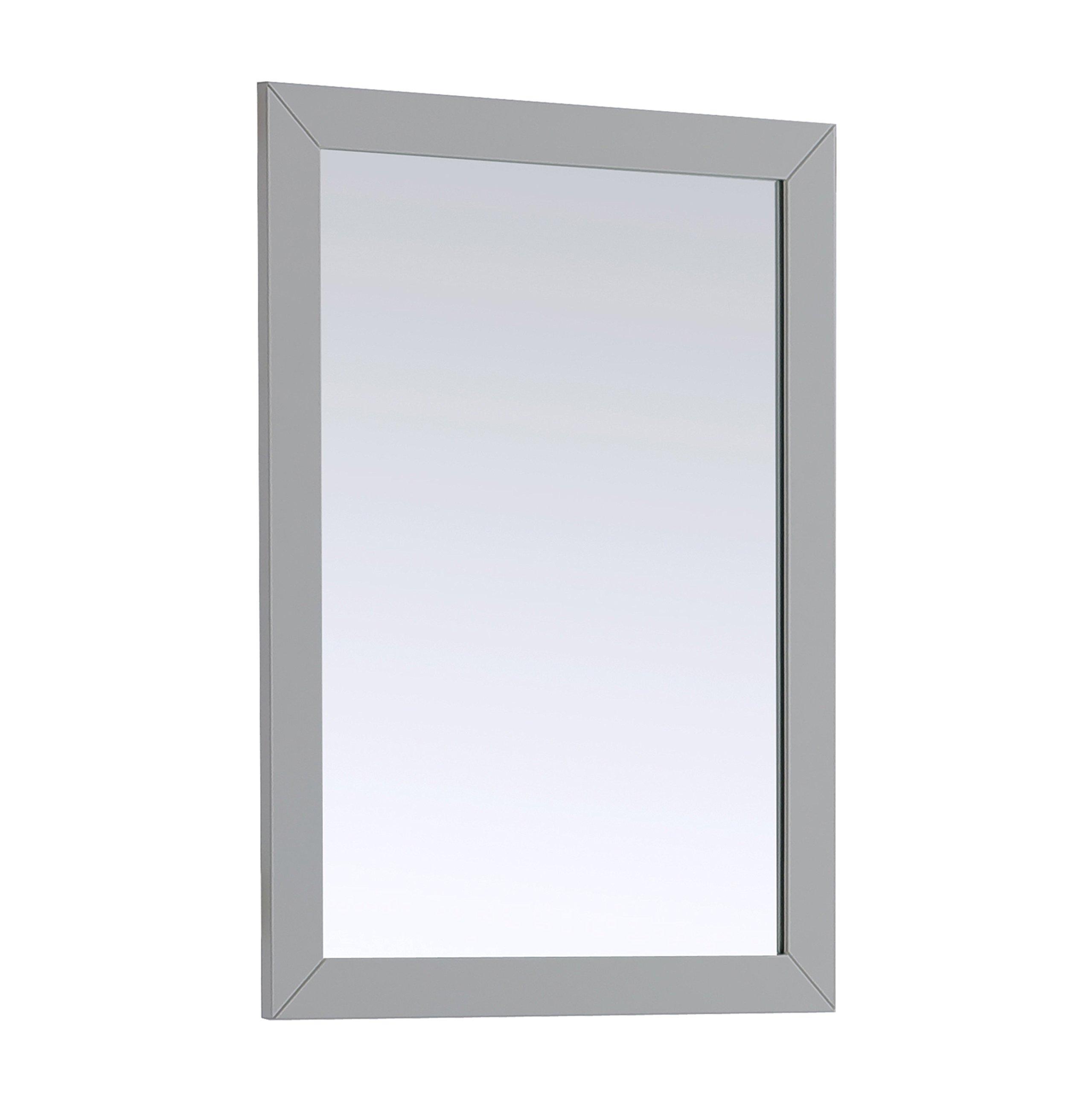 Simpli Home Chelsea 22'' x 30'' Bath Vanity Décor Mirror, Grey