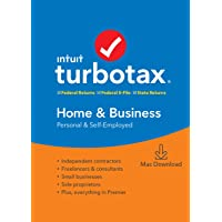 TurboTax Home & Business + State 2019 Tax Software [Amazon Exclusive] [Mac Download]