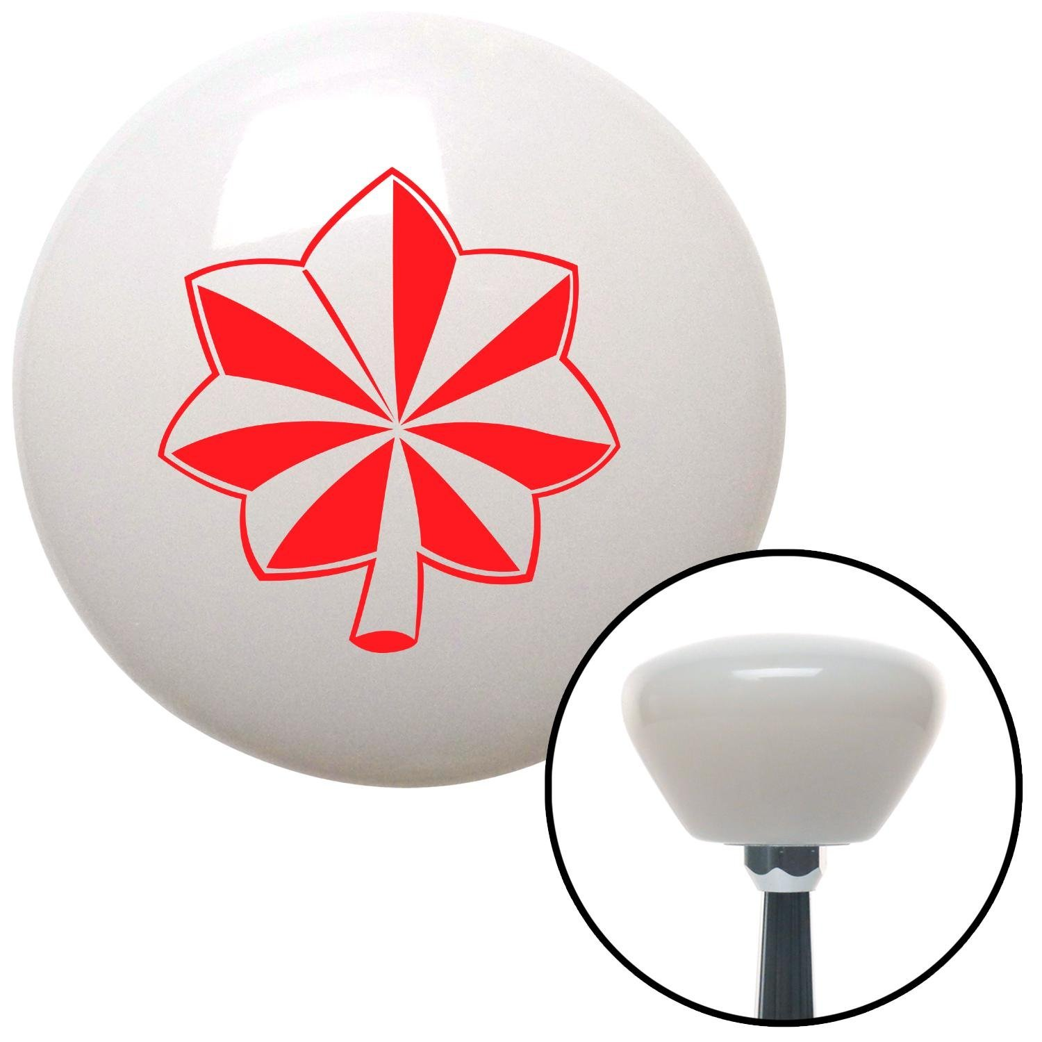 American Shifter 154407 White Retro Shift Knob with M16 x 1.5 Insert Red Officer 04 - Major and Lt. Colonel
