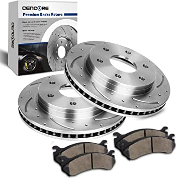 For 2000 Chevrolet Tahoe Front Rear eLine Drill Slot Brake Rotors