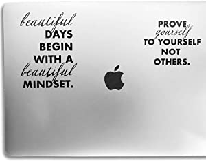 Biz-Bae Laptop Sticker Quotes, Inspirational Motivational Quote Vinyl Decal Stickers for laptops, Waterproof MacBook Stickers Quotes, MacBook air Stickers Quotes, Positive Stickers for Laptop