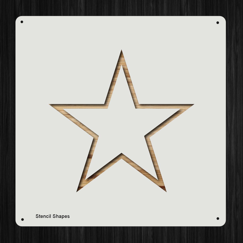 Star Star Shape Mylar Airbrush Painting Wall Art Stencil seven