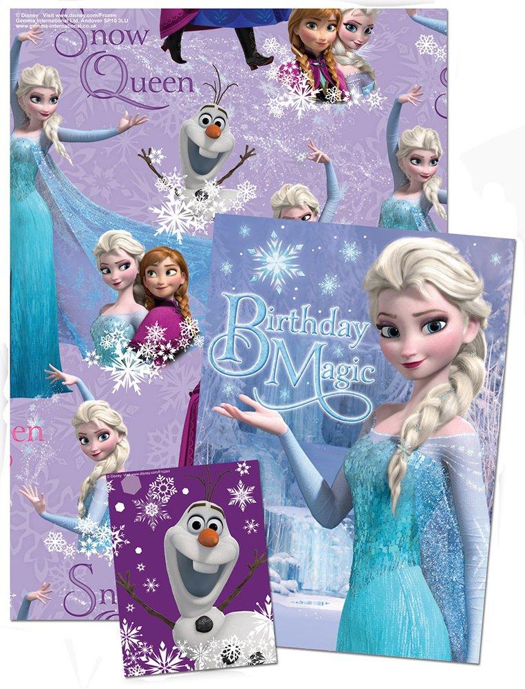 Disney - Papel de regalo con tarjeta de felicitación de ...