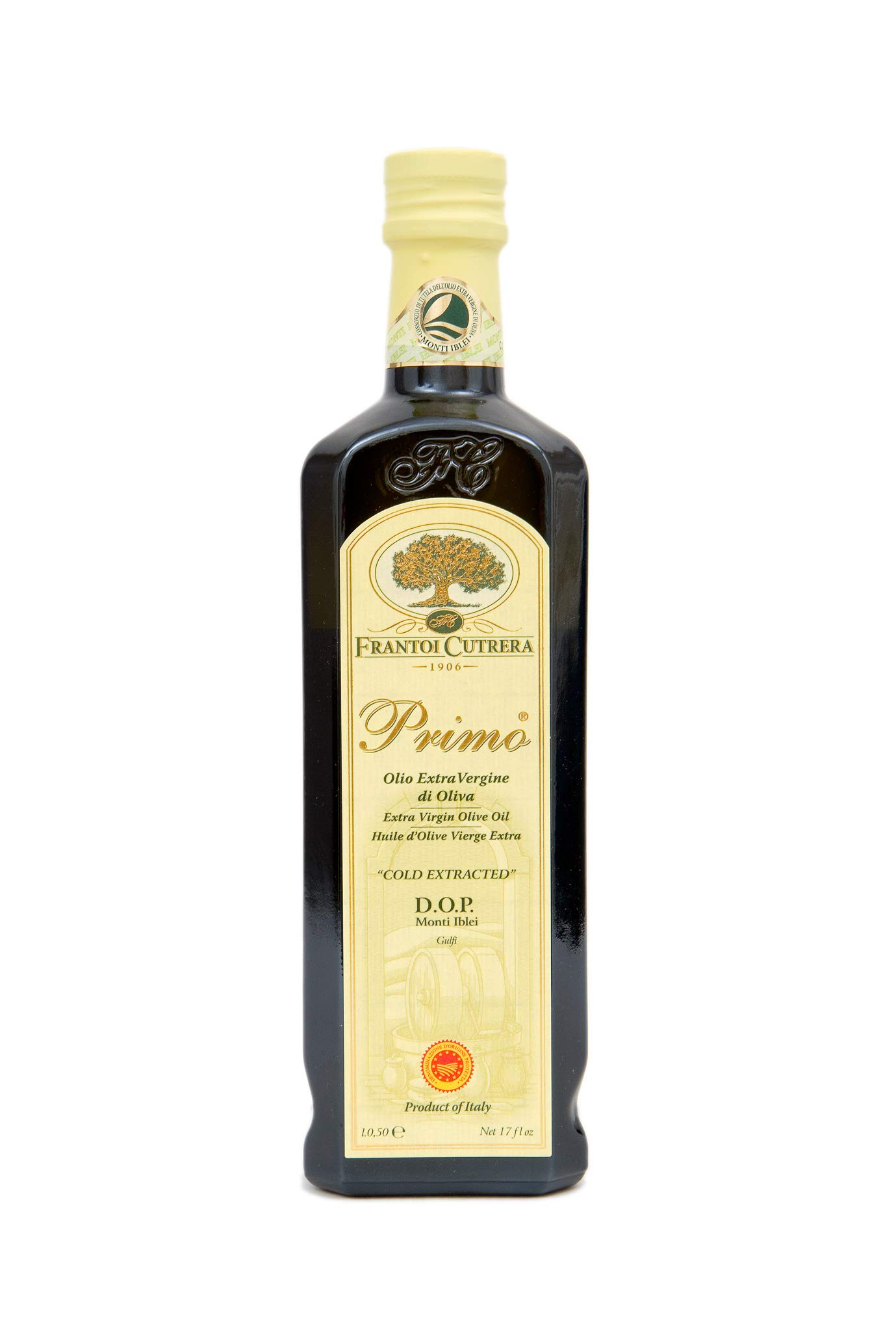 Prime Extra Virgin Olive Oil Monti Iblei D.O.P. - Cold Extracted - 16.9oz