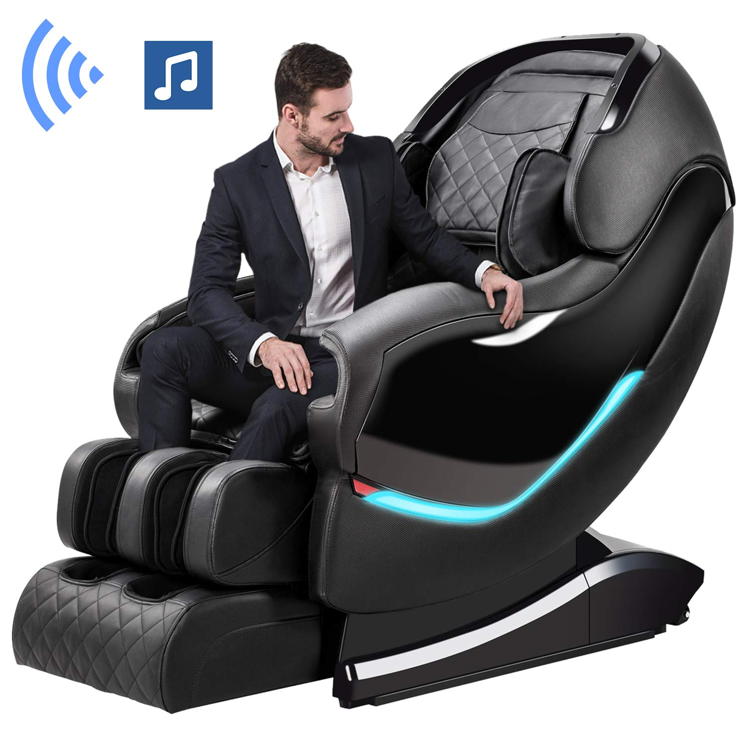 Massage Chair by OOTORI,3D SL-Track Thai Yoga Stretching Zero Gravity Massage Chair,Full Body Shiatsu Massage Chairs Recliner with Tapping, Heating and Foot Roller Massager (Black) by OOTORI