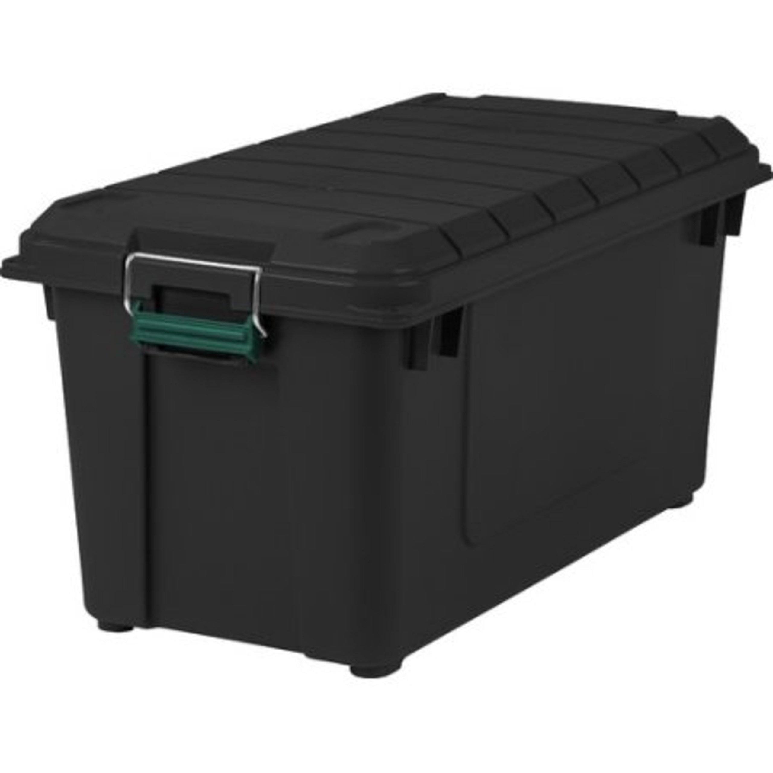 Durable Black Rugged Construction Weathertight 82Qt Storage Containers, 4Pack